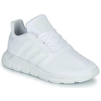 Cipők Fiú Rövid szárú edzőcipők adidas Originals SWIFT RUN C Fehér