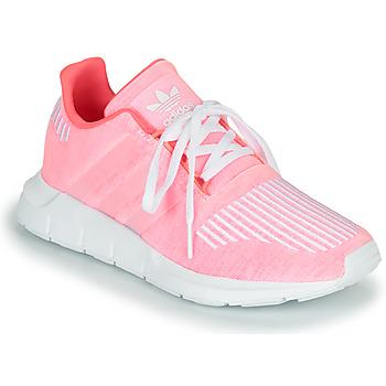 Cipők Lány Rövid szárú edzőcipők adidas Originals SWIFT RUN J Rózsaszín