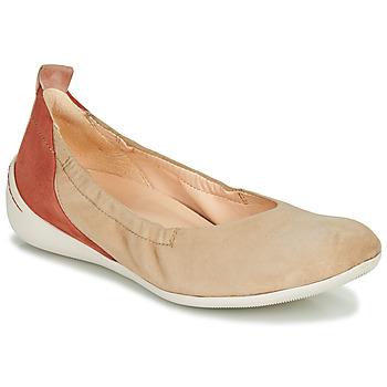 Cipők Női Balerina cipők / babák Think CUGAL Bézs / Piros