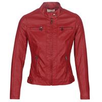 Ruhák Női Bőrkabátok / műbőr kabátok Moony Mood DUIR Piros