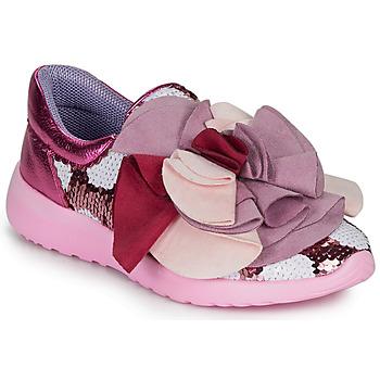Cipők Női Rövid szárú edzőcipők Irregular Choice RAGTIME RUFFLES Rózsaszín