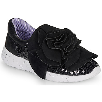 Cipők Női Rövid szárú edzőcipők Irregular Choice RAGTIME RUFFLES Fekete