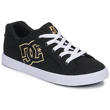 Cipők Női Rövid szárú edzőcipők DC Shoes CHELSEA TX Fekete  / Arany