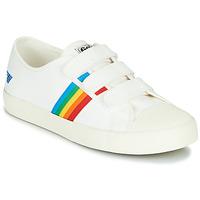 Cipők Női Rövid szárú edzőcipők Gola COASTER RAINBOW VELCRO Fehér