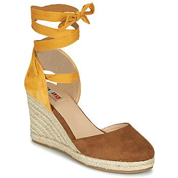 Cipők Női Szandálok / Saruk MTNG GELLO Barna / Mustár sárga