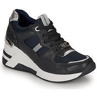 Cipők Női Rövid szárú edzőcipők Tom Tailor 8091512 Tengerész / Fekete