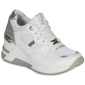 Cipők Női Rövid szárú edzőcipők Tom Tailor 8091512 Fehér / Ezüst