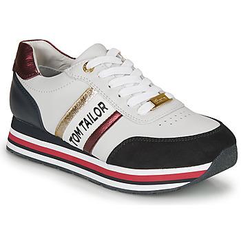 Cipők Női Rövid szárú edzőcipők Tom Tailor  Fehér / Kék / Piros
