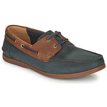 Cipők Férfi Oxford cipők Clarks PICKWELL SAIL Tengerész / Barna
