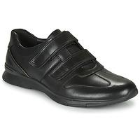 Cipők Férfi Rövid szárú edzőcipők Clarks UN TYNAMO TURN Fekete
