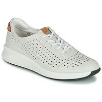 Cipők Női Rövid szárú edzőcipők Clarks UN RIO TIE Fehér