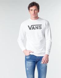 Ruhák Férfi Hosszú ujjú pólók Vans VANS CLASSIC Fehér