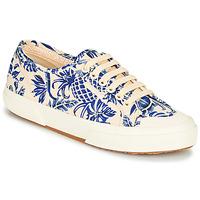 Cipők Női Rövid szárú edzőcipők Superga 2294-COTFANW Bézs / Kék