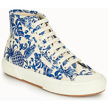 Cipők Női Magas szárú edzőcipők Superga 2295-COTFANW Bézs / Kék