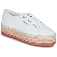 Cipők Női Rövid szárú edzőcipők Superga 2790-COTCOLOROPEW Fehér / Rózsaszín