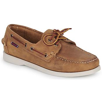 Cipők Női Vitorlás cipők Sebago DOCKSIDES PORTLAND CRAZY H W Barna