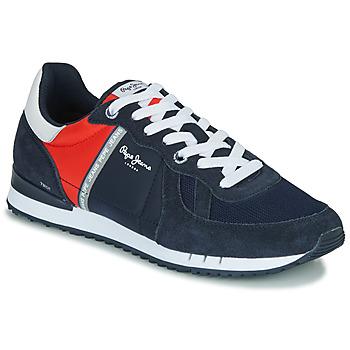 Cipők Férfi Rövid szárú edzőcipők Pepe jeans TINKER  ZERO Tengerész