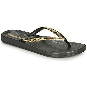 Cipők Női Lábujjközös papucsok Ipanema MESH IV Fekete  / Arany