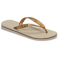 Cipők Női Lábujjközös papucsok Ipanema CLAS BRASIL II Bézs / Arany
