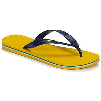 Cipők Férfi Lábujjközös papucsok Ipanema CLAS BRASIL II Citromsárga / Kék