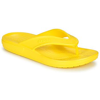 Cipők Lábujjközös papucsok Crocs CLASSIC II FLIP Citromsárga