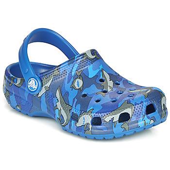 Cipők Fiú Klumpák Crocs CLASSIC SHARK CLOG Kék