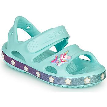 Cipők Lány Szandálok / Saruk Crocs FUNLAB UNICORN SANDAL Kék