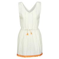 Ruhák Női Rövid ruhák Banana Moon MARZUL MANDALO Fehér / Narancssárga