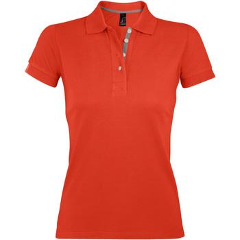 Ruhák Női Rövid ujjú galléros pólók Sols PORTLAND MODERN SPORT Naranja