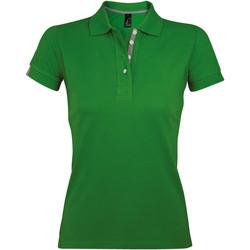 Ruhák Női Rövid ujjú galléros pólók Sols PORTLAND MODERN SPORT Verde