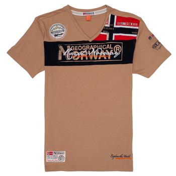 Ruhák Fiú Rövid ujjú pólók Geographical Norway JIDNEY Bézs