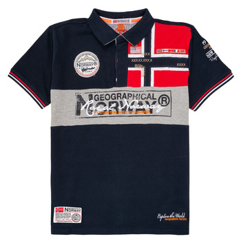Ruhák Fiú Rövid ujjú galléros pólók Geographical Norway KIDNEY Tengerész