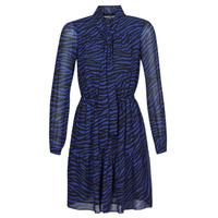 Ruhák Női Rövid ruhák MICHAEL Michael Kors BOLD BENGAL TIER DRS Kék / Fekete