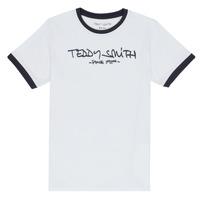 Ruhák Fiú Rövid ujjú pólók Teddy Smith TICLASS 3 Fehér
