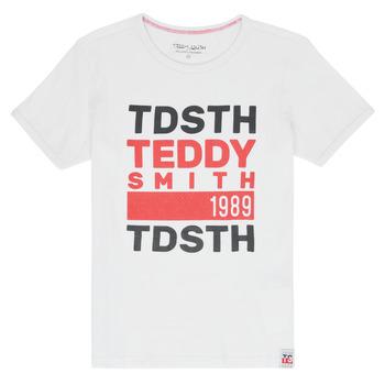 Ruhák Fiú Rövid ujjú pólók Teddy Smith DUSTIN Fehér
