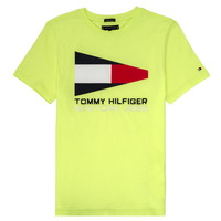 Ruhák Fiú Rövid ujjú pólók Tommy Hilfiger  Citromsárga