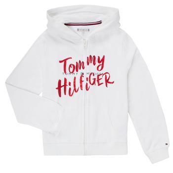 Ruhák Lány Pulóverek Tommy Hilfiger KG0KG05043 Fehér