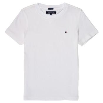 Ruhák Fiú Rövid ujjú pólók Tommy Hilfiger KB0KB04140 Fehér