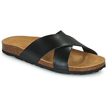 Cipők Női Papucsok Only MADISON CROSS LEATHER Fekete