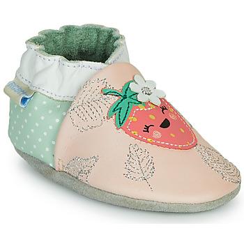Cipők Lány Mamuszok Robeez FRUIT'S PARTY Rózsaszín / Zöld
