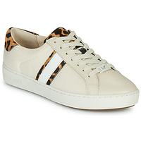 Cipők Női Rövid szárú edzőcipők MICHAEL Michael Kors IRVING STRIPE LACE UP Ekrü / Leopárd