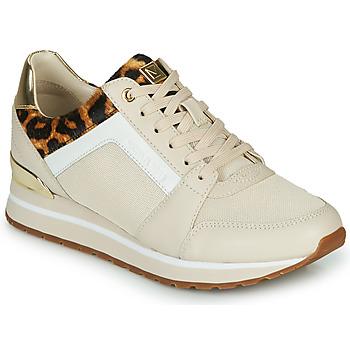 Cipők Női Rövid szárú edzőcipők MICHAEL Michael Kors BILLIE Bézs / Leopárd