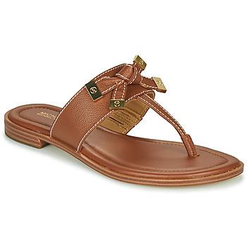 Cipők Női Lábujjközös papucsok MICHAEL Michael Kors RIPLEY THONG Konyak