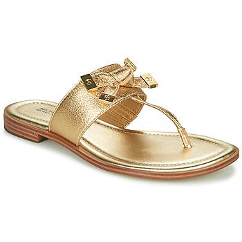 Cipők Női Lábujjközös papucsok MICHAEL Michael Kors RIPLEY THONG Arany