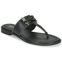 Cipők Női Lábujjközös papucsok MICHAEL Michael Kors RIPLEY THONG Fekete