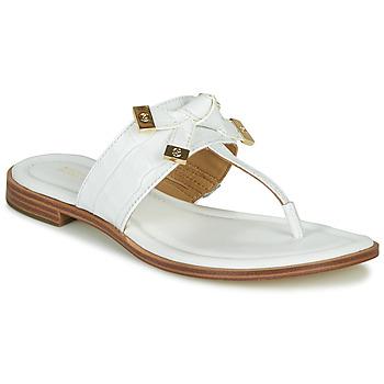 Cipők Női Lábujjközös papucsok MICHAEL Michael Kors RIPLEY THONG Fehér