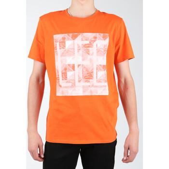 Ruhák Férfi Pólók / Galléros Pólók Lee T-shirt  Logo Tee L63GAIMO pomarańczowy