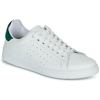 Cipők Női Rövid szárú edzőcipők Yurban SATURNA Fehér / Zöld