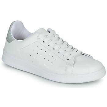 Cipők Női Rövid szárú edzőcipők Yurban SATURNA Fehér / Ezüst