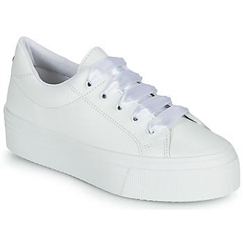 Cipők Női Rövid szárú edzőcipők Yurban JUNNY Fehér
